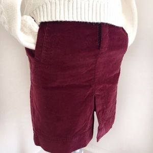 American Eagle Outfitters Dresses & Skirts - American Eagle AEO burgundy red velvet mini skirt