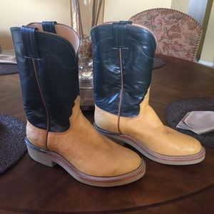 Shoes Custom Made Ostrich Cowboy Boots With Crepe Soles