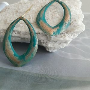 Turquoise Oval Earring