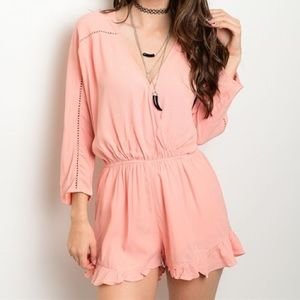 Urban Outfitters Pants - *SALE* New salmon ruffle romper