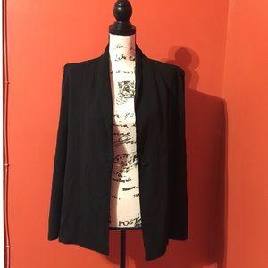 Ladakh Jackets & Blazers - Black cape blazer jacket