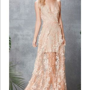"Dress the Population ""Sidney"" Lace Illusion Gown"