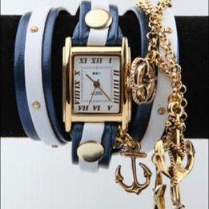 La Mer Accessories - La Mer Collections Portofino Gold Charm Wrap Watch