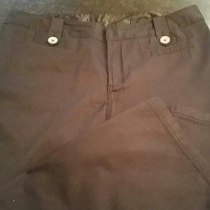Venezia Pants - Plus size Venezia wide leg black pinstripe pants