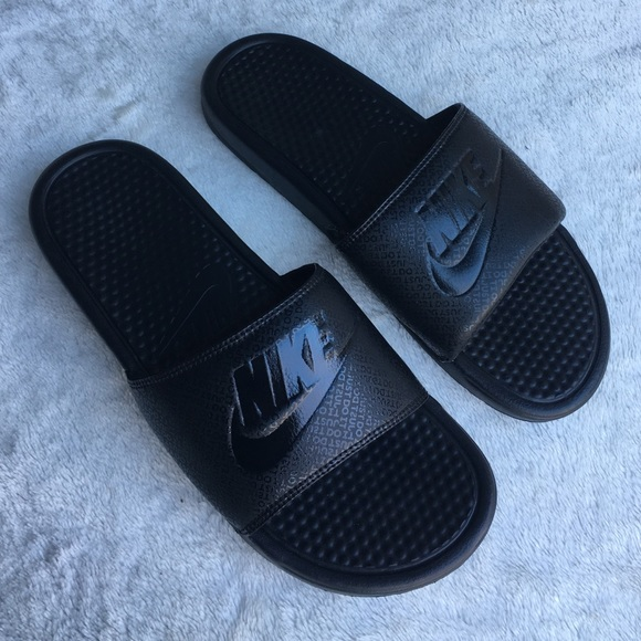 ac1010ad1 Men s Nike All Black Benassi JDI Slides Size 12. M 5887b621522b451a8b1a2db8