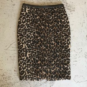 FRNCH Leopard Pencil Skirt