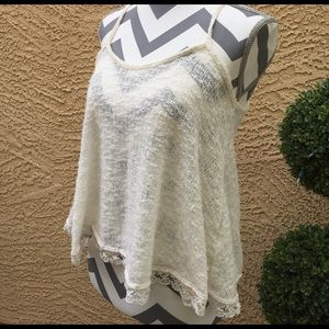 Paper Crane Tops - Dressy Lace Bottom Tank