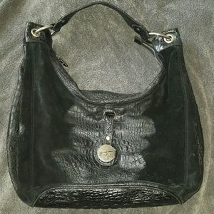 Junior Drake suede and leather bag