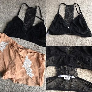 Urban Outfitters Other - NWT out from under black lace bralette t back l