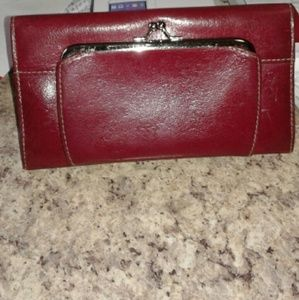 Buxton Handbags - Genuine Red Leather Wallet