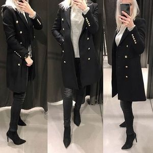 Military style top coat