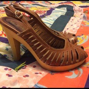 Michael Kors Shoes - Sling back wood heels