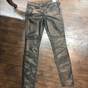 Bronze metallic denim articles of society