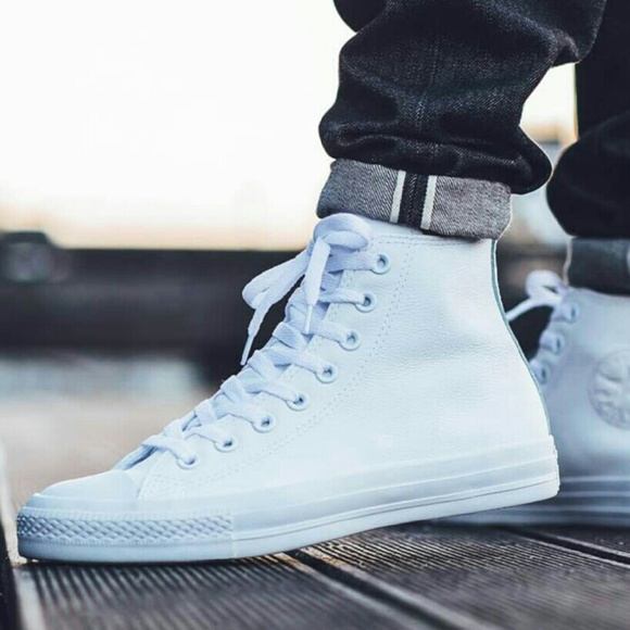 converse shoes white high tops. converse shoes - new chuck taylor hi top white rubber shoe high tops e
