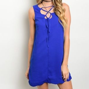 Very J Dresses & Skirts - *TODAY ONLY CLEARANCE* New blUE scalloped dress