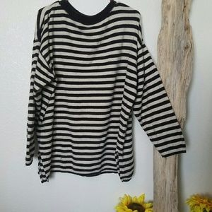 vintage black and white striped sweater