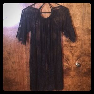 Dresses & Skirts - Lace black coverup or dress never worn OS