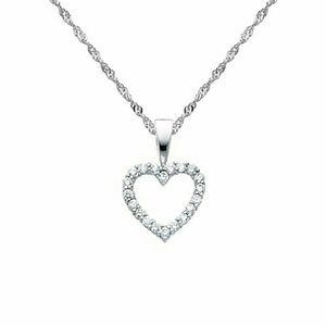 Jewelry - 14k Solid white gold 2pc Necklace