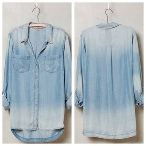 Anthropologie Tops - NWOT Anthro holding horses wind washed chambray