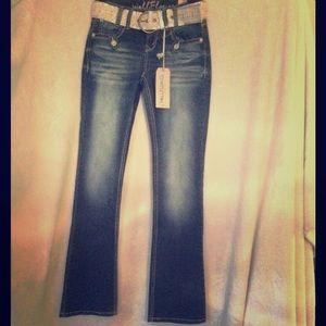 Wallflower Denim - NEW WallFlower Rhinestone Jeans Belt CUTE Size 0💙