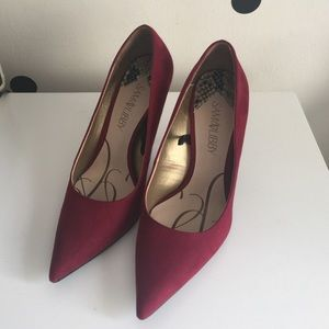 Shoes - Burgundy suede pumps