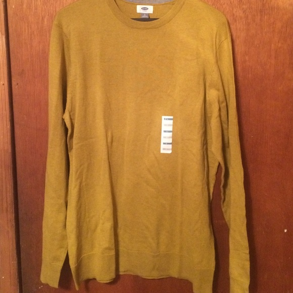 33% off Old Navy Other - NWT 2016 Old Navy Men Mustard Crew Neck ...