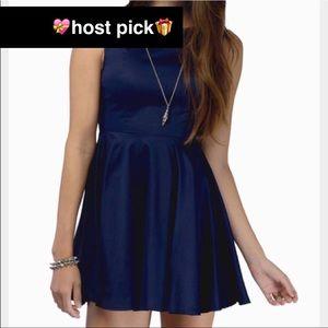 Tobi Dresses & Skirts - Offer Me🥂Navy Blue Skater Dress