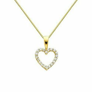 Jewelry - 14k Solid yellow Gold 2pc Heart Necklace