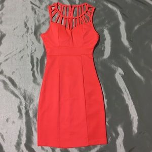 Charlotte Russe XS coral mini party dress