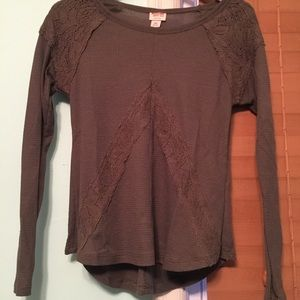Forest green long sleeved top