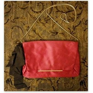 LANVIN Handbag Auth Satin Evening Bag Pink Clutch