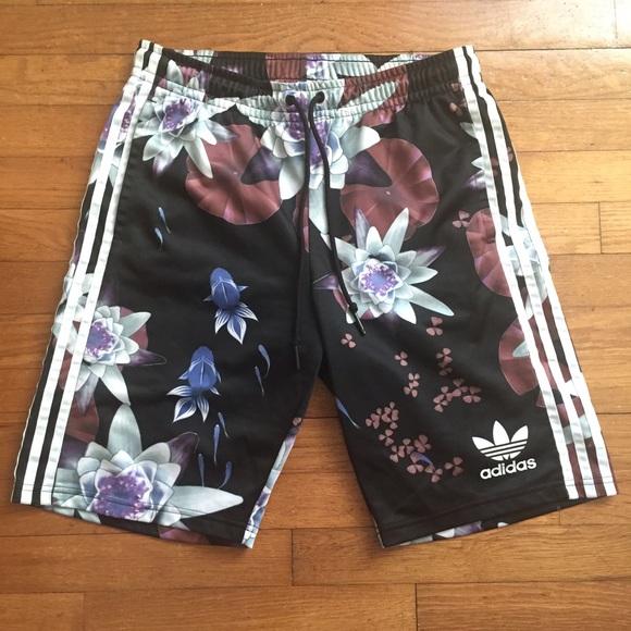 fd10f20da33 Adidas Pants - Adidas Originals Lotus Print Basketball Shorts