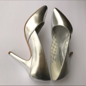 Christian Siriano Shoes - Christian Siriano for Payless silver colored heels