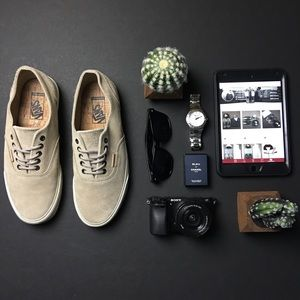 Vans Other - SOLD - VANS Taupe Suede Lace Up Classics