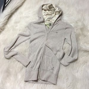 Hollister zip up sweater