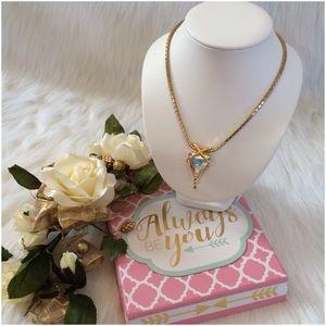 Jewelry - Goldtone Pendant/Slider with Swarovski Crystals