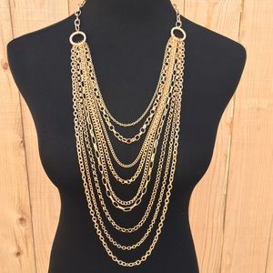 Jewelry - 🎉HP🎉🎁 10 Chain Layered Gold Tone Necklace