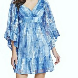 Betsey Johnson Bambi lace patch kimono Dress