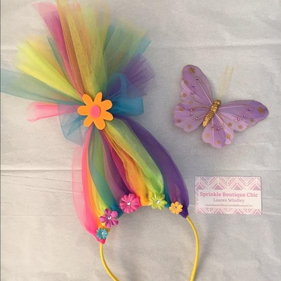 0ca8bde0d Accessories   Neon Rainbow Troll Hair Headband   Poshmark
