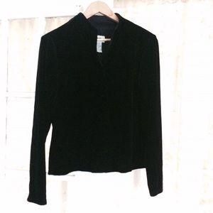Vintage crushed velvet button up shirt