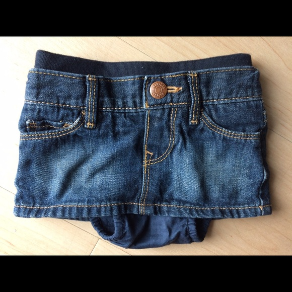 f4473d2834 Baby Gap Bottoms | Denim Skirt With Attached Diaper Cover | Poshmark