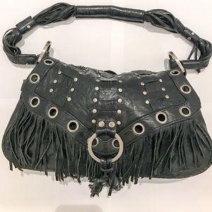 Junior Drake Black Leather Handbag