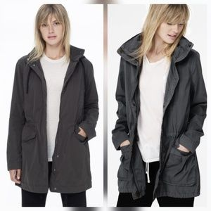 James Perse Jackets & Blazers - James Perse Dark Gray Anorak Jacket