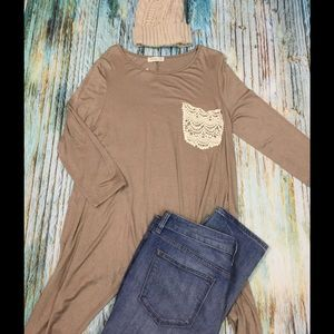 NEW!! Taupe Shirt