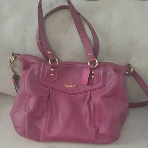 COACH PURSE Raspberry Fuschia Boho Shoulder Bag