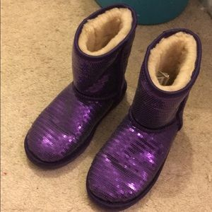 UGG Shoes - 🔥UGG purple sequin midnight boots