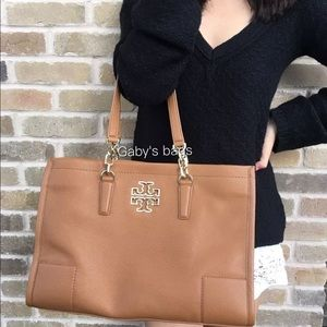 Tory Burch Britten large tote brown east west