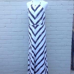 Ann Taylor Dresses & Skirts - Ann Taylor Petites Chevron Halter Maxi Dress - 12P