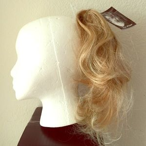 """15"""" CLIP-IN Hair EXTENSIONS PONYTAIL Golden Blonde"""