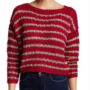 Free People Sweaters - Free People Over and Easy Stripe Sweater